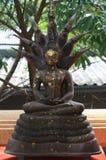 Buddha som är guld- i Wat Sakra Royaltyfria Bilder