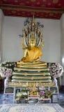 Buddha som ner ligger watpho som vilar Buddha Thailand Royaltyfri Fotografi