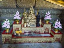 Buddha som ner ligger watpho som vilar Buddha Thailand Royaltyfria Foton
