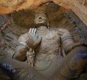buddha som snider grottoes, stenar yungang Royaltyfria Bilder