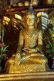 Buddha som täckas i bladguld Royaltyfri Foto