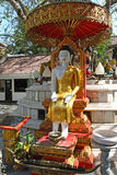 Buddha sotto l'albero di Bodhi Fotografie Stock