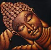 buddha sova Arkivfoton