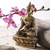 Buddha for spirituality at beauty spa Royalty Free Stock Images