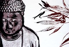 Buddha stampato Fotografia Stock