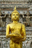 Buddha stand. Buddha statue stand in temple Stock Photos