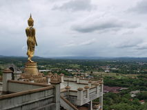 Buddha standing on a mountain, Nan Province of Thailand. Stock Images