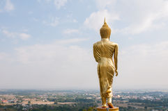 Buddha standing on a mountain Wat Phra That Khao Noi Royalty Free Stock Images
