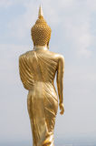 Buddha standing on a mountain Wat Phra That Khao Noi Stock Photo