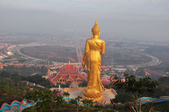 Buddha standing on a mountain Wat Phra That Khao Noi, Nan Provin Royalty Free Stock Image