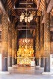 Buddha statua świątynny Phra Ten Lampang Luang zdjęcie royalty free