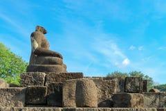 Buddha statua bez głowy, Candi Sewu kompleks w Jawa, Indonesi Obraz Royalty Free
