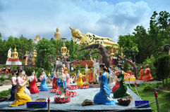 Buddha statua i wielki Opiera Buddha Fotografia Royalty Free