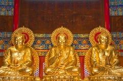 Buddha statua przy chińczykiem Obrazy Stock