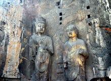 Buddha statua przy Longmen grotami fotografia stock