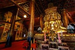 Buddha statua przy Phumin świątynią Nan Zdjęcie Stock