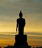 Buddha statua przy Phuttamonthon, Nakhon Pathom Ja jest miejscem publicznym dla BuddhistSiluate Obrazy Stock