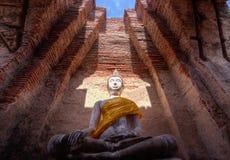 Buddha statua przy Watem Prasat Nakorn Luang, Amphoe Nakorn Luang, Phra Nakorn Si Ayutthaya, Tajlandia Fotografia Stock