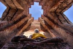 Buddha statua przy Watem Prasat Nakorn Luang, Amphoe Nakorn Luang, Phra Nakorn Si Ayutthaya, Tajlandia Zdjęcie Stock