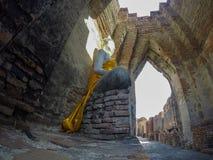 Buddha statua przy Watem Prasat Nakorn Luang, Amphoe Nakorn Luang, Phra Nakorn Si Ayutthaya, Tajlandia Obrazy Royalty Free