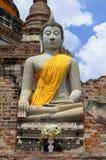 Buddha statua przy Watem Yai Chai Mongkol w Ayutthaya Obrazy Royalty Free