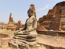 Buddha statua w Ayuthaya Obrazy Royalty Free