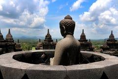 Buddha statua w Borobudur Zdjęcie Royalty Free
