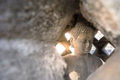 Buddha statua w Borobudur, Buddist świątynia w Yogyakarta, Indone Zdjęcia Stock