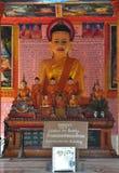 Buddha statua w Lolei świątyni w Siem Przeprowadza żniwa, Kambodża. Zdjęcie Royalty Free
