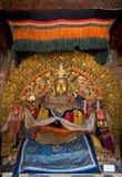 Buddha statua w monasterze Obrazy Royalty Free