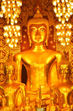 Buddha statua w Wacie Phra Haripunchai Zdjęcia Stock