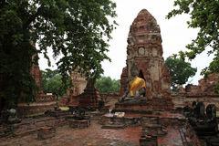 Buddha statua, Wat Mahathat, Ayuthaya, Tajlandia Obrazy Royalty Free