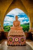 Buddha statua z marmurem Zdjęcie Royalty Free