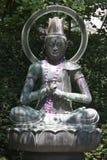 Buddha statue. Statue of a meditating Buddha Stock Photos