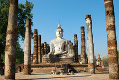 Buddha statue. Wat Mahathat Temple in Sukhothai Historical Park Stock Photography