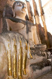 Buddha statue. Wat Si Chum, Sukhothai Historical Park Royalty Free Stock Photo