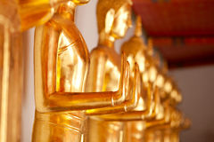 Buddha statue. Buddha in the temple, a symbol of Buddhism Stock Photography