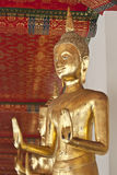 Buddha statue. Looking at the temple in Thailand Royalty Free Stock Photography