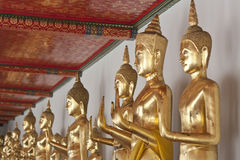 Buddha statue. Looking at the temple in Thailand Stock Images