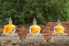 Buddha statue. Three Buddha statue in the temple,Thailand Stock Photos