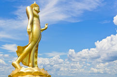 Buddha statue. With a bright sky background Stock Photography