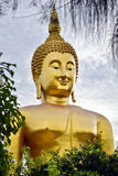 Buddha statue. Phra Buddha Maha Nawamin Sakayamunee Visejchaicharn at Wat Muang in the Ang Thong province. Also called The Big Buddha. It is the tallest statue Royalty Free Stock Images