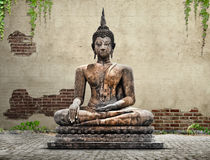 Buddha statue. Concept made with photoshop Stock Photography