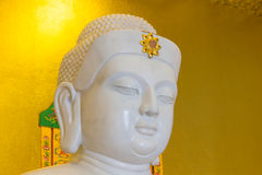 Buddha statue. Face image of buddha statue make of Chicken-bone jade Royalty Free Stock Photography