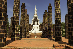 Buddha statue. Buddha is traditionally created in the theater was besieged by drugs, which is an attraction to many people royalty free stock photos