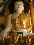 Buddha statue. In Shwedagon Pagoda in Yangon, Maynmar stock images