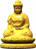 Buddha statue. A golden buddha statue Stock Photo