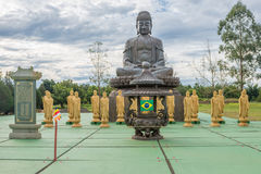 Buddha statue an amulet of Buddhism religion Royalty Free Stock Photos