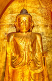 Buddha statue in Ananda temple Royalty Free Stock Photo