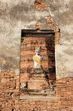 Buddha statue in Ancient city of Ayutthaya Stock Images